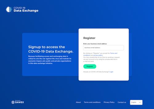 COVID-19 Data Exchange Platform