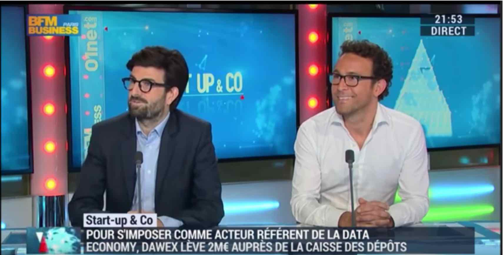 Presentation of Dawex by its co-founders on BFM Business [French]